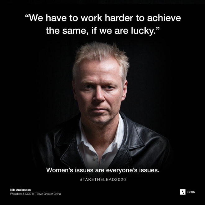 TBWA Take The Lead on Gender Equality in the workplace - Nils Andersson