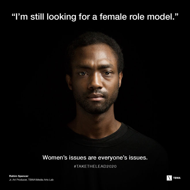 TBWA Take The Lead on Gender Equality in the workplace - Rahim Spencer