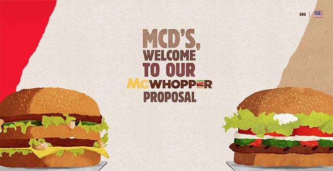 McWhopper site welcome
