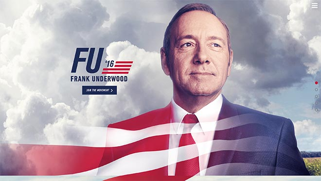 Frank Underwood 2016 site