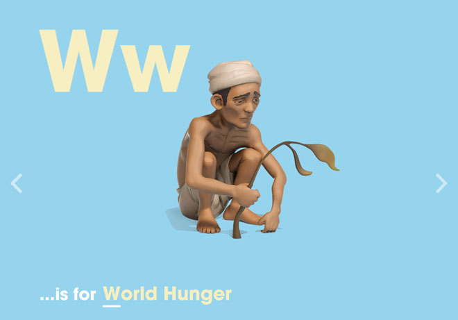Alphabet of Illiteracy W is for World Hunger