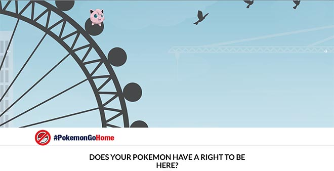 Pokemon Go Home site