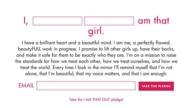 I Am That Girl pledge