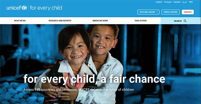 UNICEF For Every Child site
