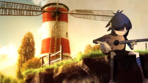 Windmill in Gorillaz Feel Good Music Video