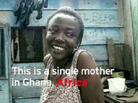 Single Mother in Ghana