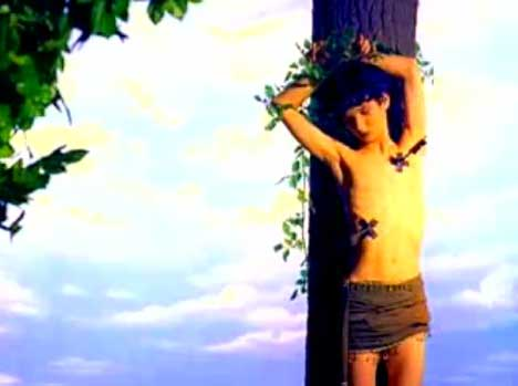 St Sebastian figure in Losing My Religion music video