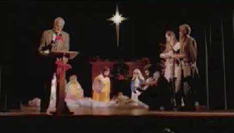 Nativity scene in Blind Boys of Alabama music video