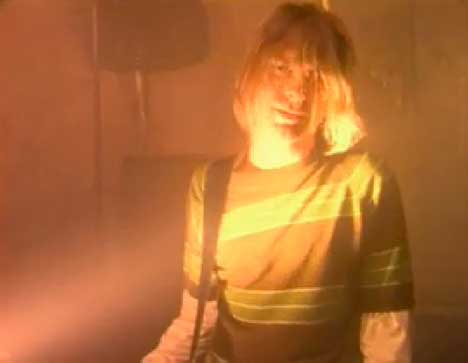 Kurt Cobain in Nirvana Smells Like Teen Spirit Music Video