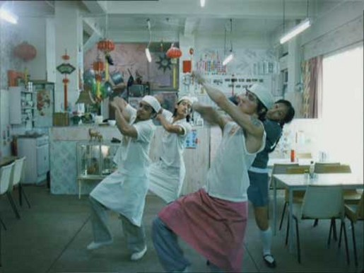 Chinese dancers in Madonna Hung Up video