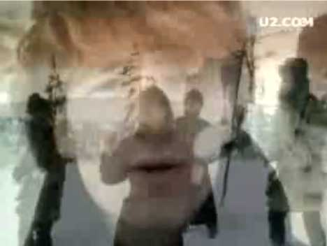 Still shot from U2 New Year's Day music video