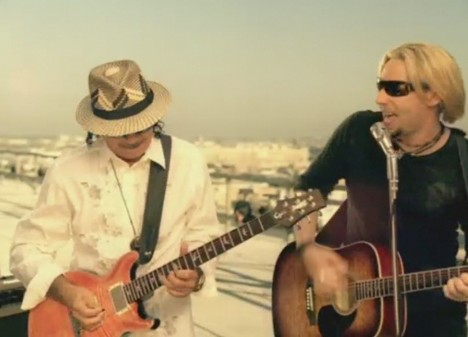 Santana and Chad Kroeger