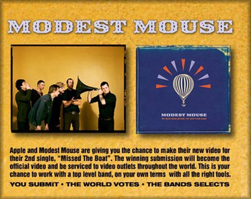Modest Mouse Missed The Boat video contest