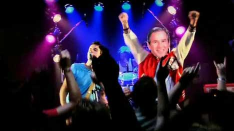 Kisschasy music video with George W Bush on stage