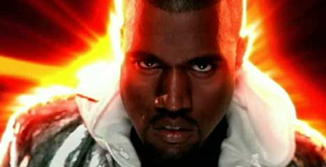 Kanye West in Stronger music video