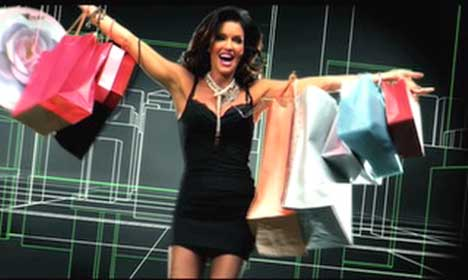 Shopping woman in On The Verge music video