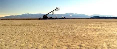 Desert scene from beginning and end of Linkin Park music video
