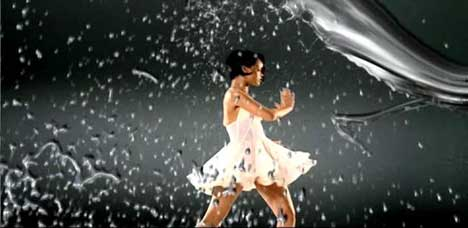 Water effects in Rihanna Umbrella music video