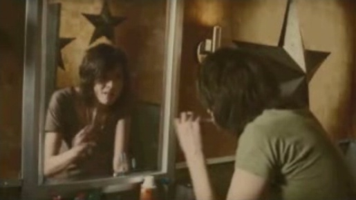 William Beckett and mirror in The Academy Is music video