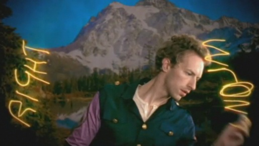 Chris Martin draws right and wrong in Coldplay Lovers in Japan music video