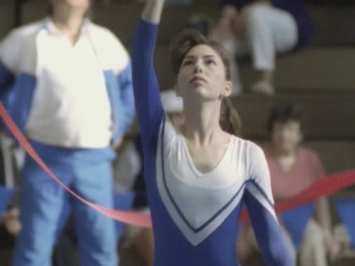 Sofia Coppola with ribbon in Elektrobank music video