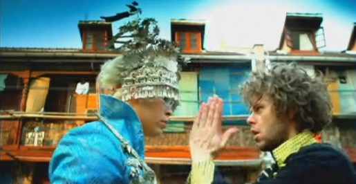 Luke Steele and Nick Littlemore in Walking in a Dream music video