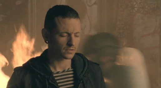Chester Bennington in Linkin Park music video for Shadow of the day