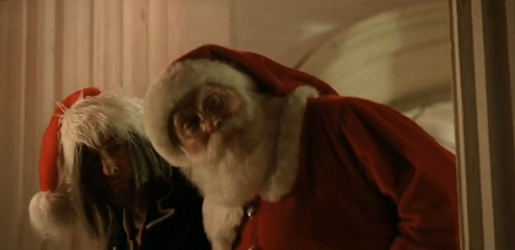 Bob Dylan and Santa Claus in Must Be Santa music video