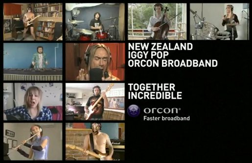 Iggy Pop Orcon Broadband and 9 NZers performing The Passenger