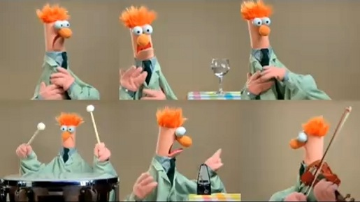 Muppets Ode to Joy music video featuring Beaker