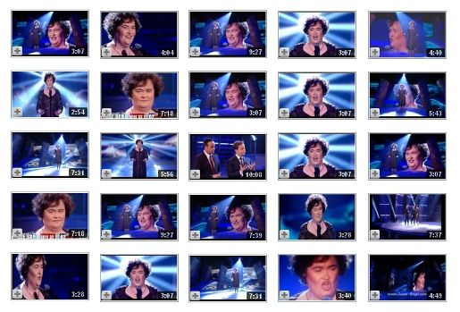 Susan Boyle Memory videos on YouTube