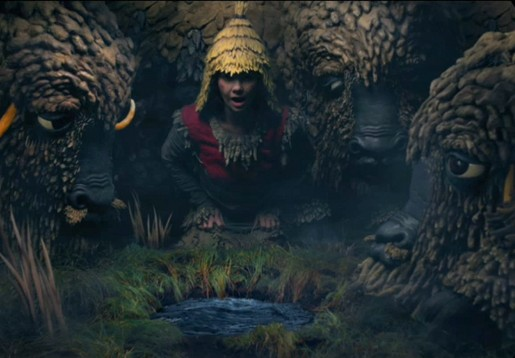 Bjork with Yaks in Wanderlust music video