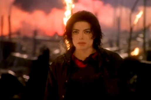 Michael Jackson in Earth Song music video