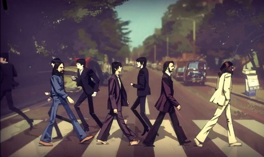 The Beatles on Abbey Road in Rock Band trailer