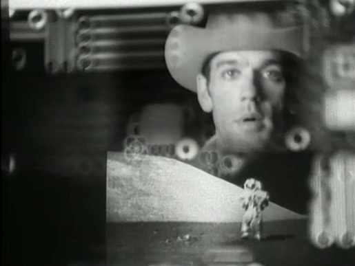 Michael Stipe in REM Man on the Moon music video