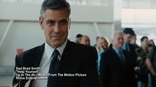 George Clooney in Up In The Air Help Yourself music video