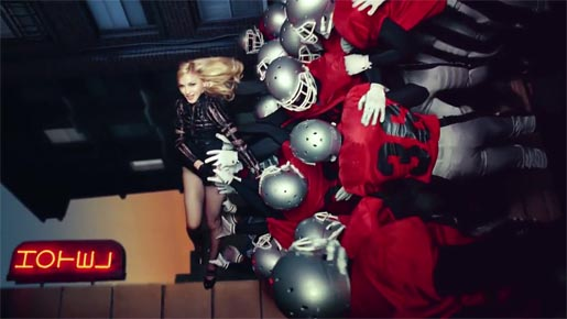 Madonna and Football Players in Give Me All Your Luvin'