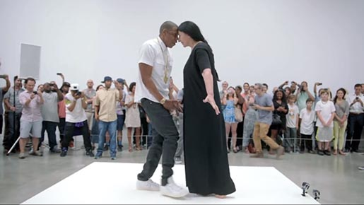 Jay Z and Marina Abramovic dance in Picasso Baby Performance Art Film