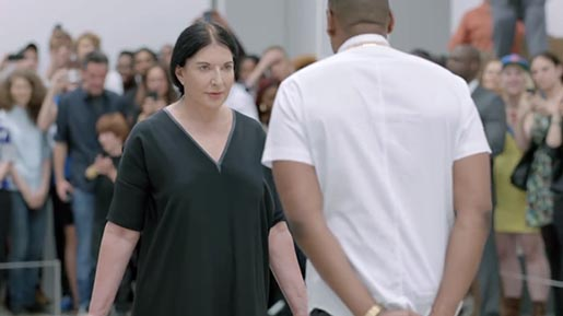 Jay Z and Marina Abramovic in Picasso Baby Performance Art Film