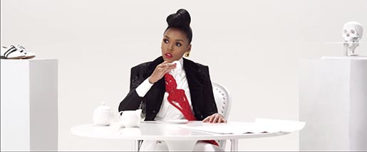 Janelle Monae Q.U.E.E.N. suit in music video