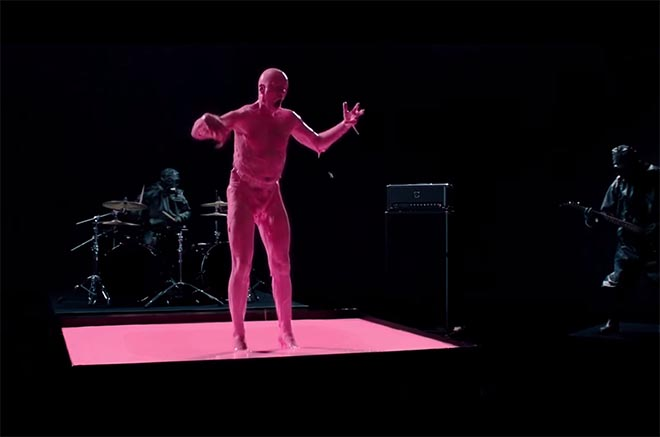 Lo! Orca music video with vocalist Sam Dillon in pink