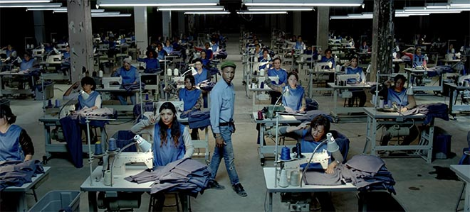 Sweat shop in Pharrell Williams Freedom music video