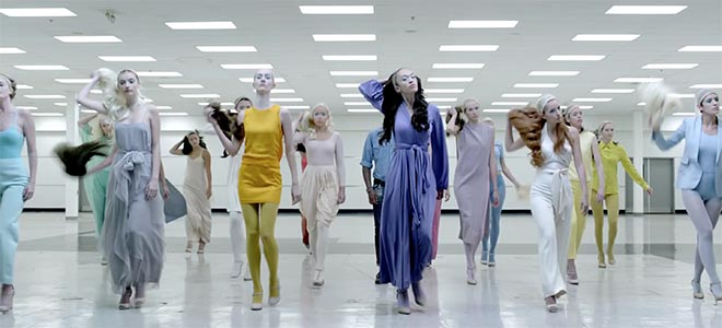 Wigless women in Pharrell Williams Freedom music video