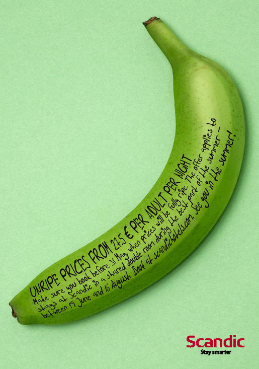 Scandic Green Banana promotion