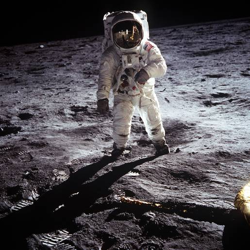 Apollo 11 Buzz Aldrin photograph