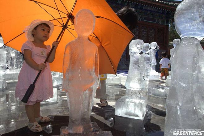 Greenpeace Ice Sculpture