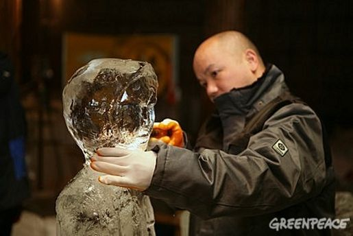 Greenpeace Ice Sculptor