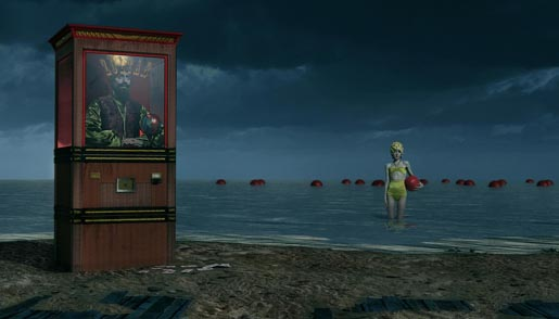 Barnumville Zoltar and Girls