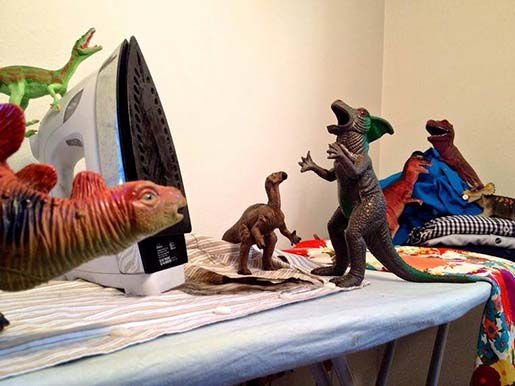 Dinosaur Ironing Disaster