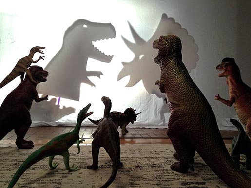 Dinosaur Shadow Play